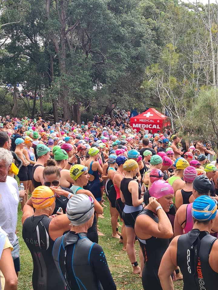 Start line for Huskisson Triathlon
