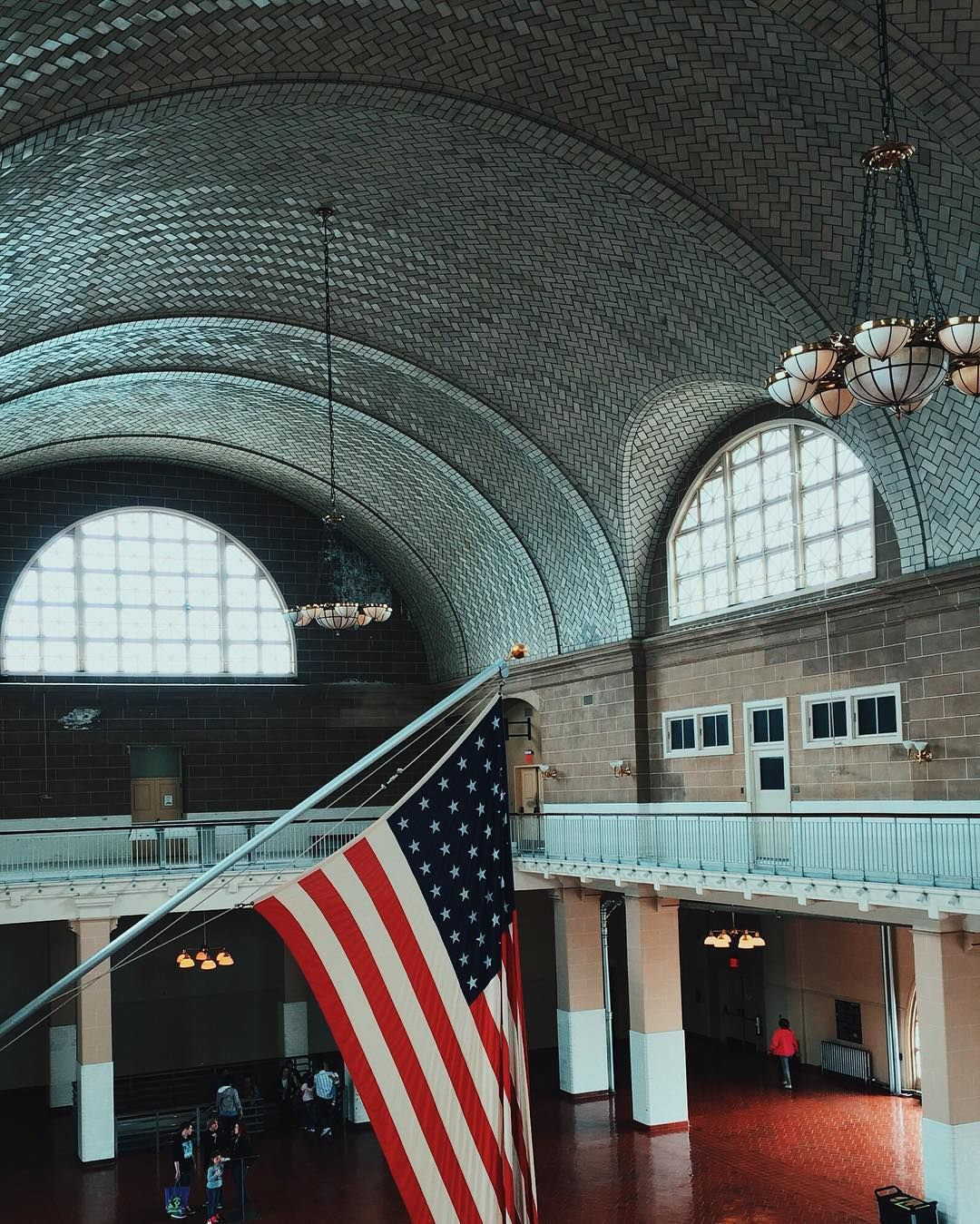 The Immigration hall on Ellis Island