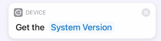 Get System Version