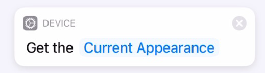 Get Current Appearance