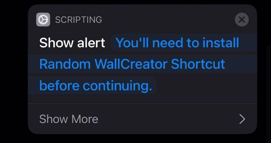 Show Alert