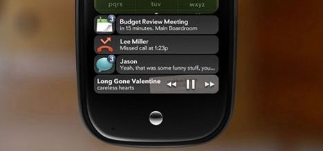 The Palm Pre Notification Tray