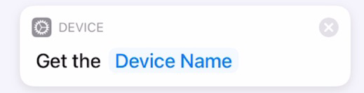 Get Device Name