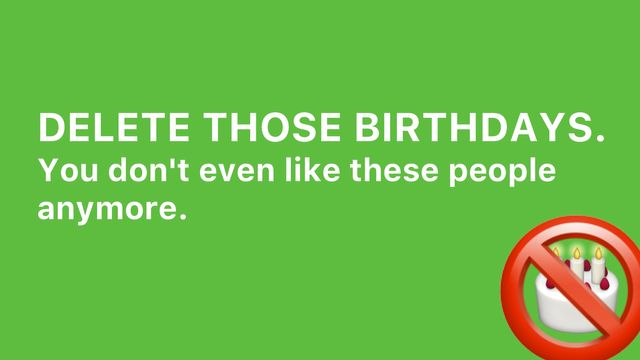 Delete Birthdays With Shortcuts Banner Image