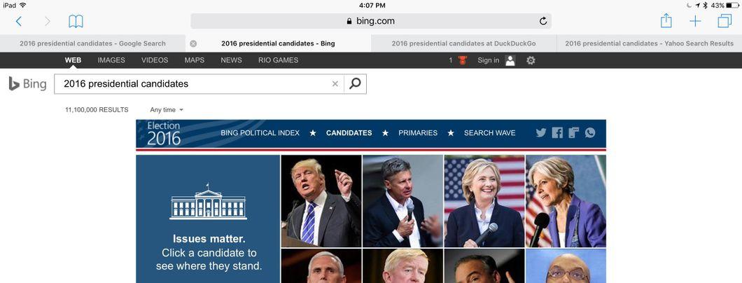 Search Engine Bias in Politics Banner Image