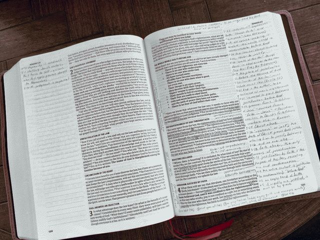 My CSB Bible open to Romans 3
