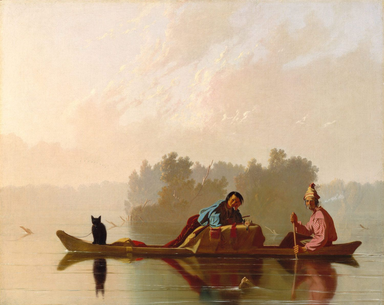 George Caleb Bingham: Fur Traders Descending the Missouri (1845)