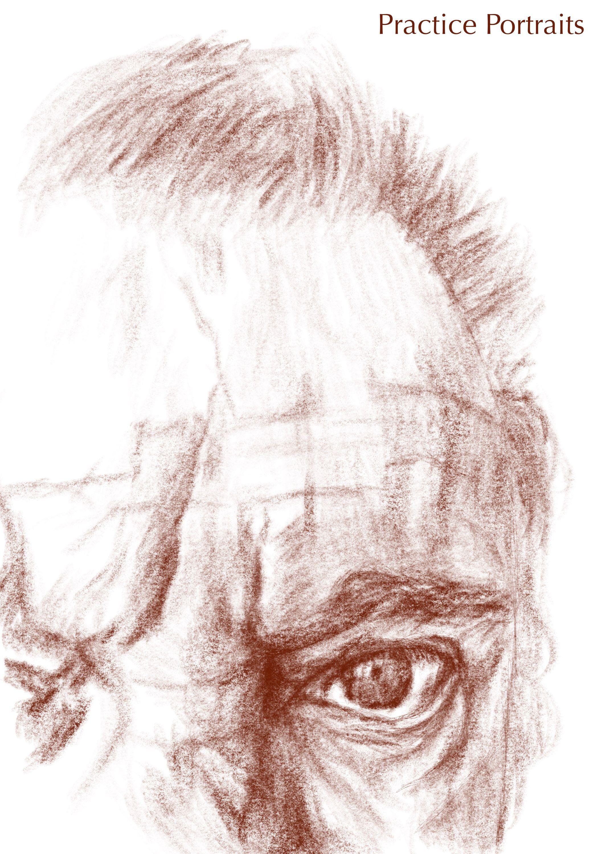 joe's eye - digital pencil drawing
