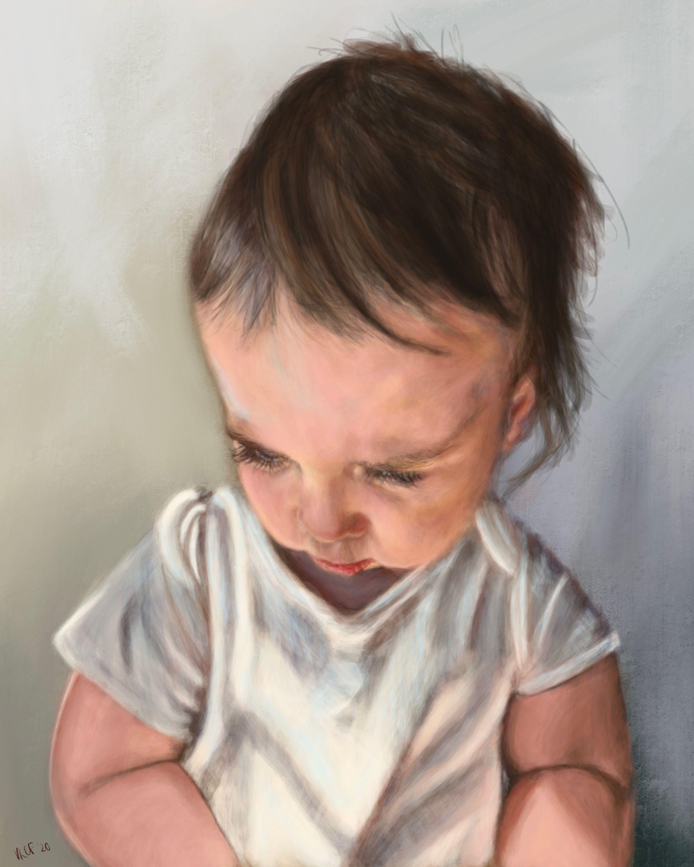 ellis 18 months - digital acrylic