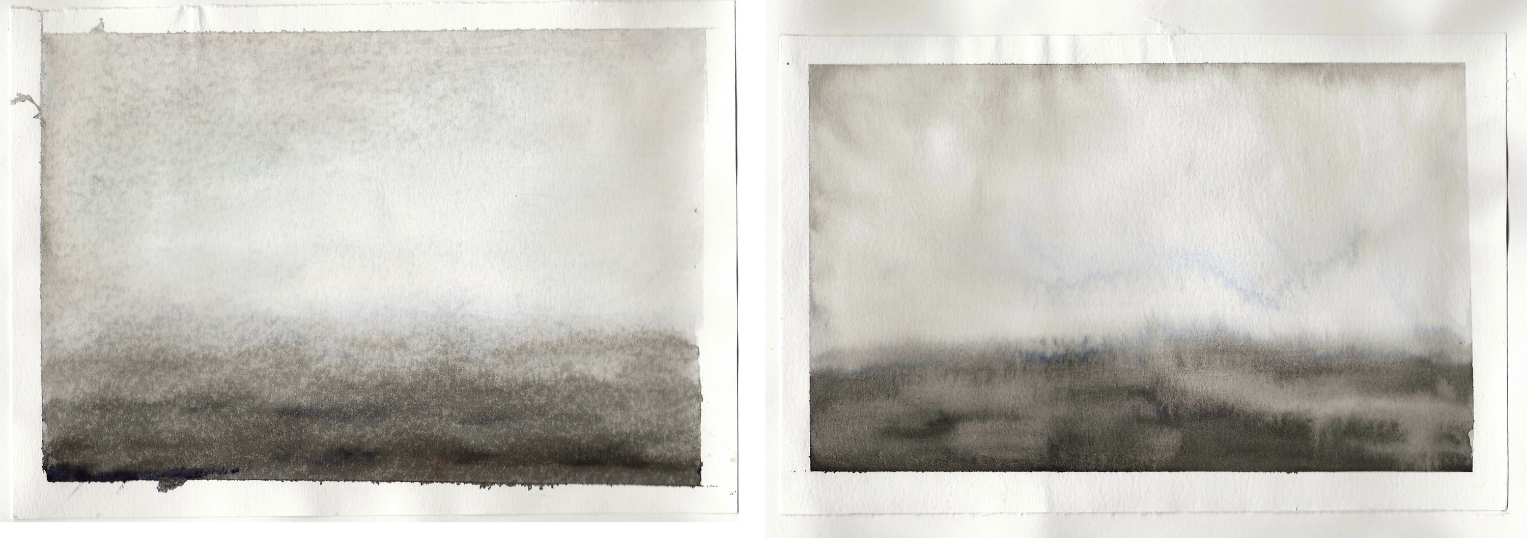 diptych watercolour studies - sequence 2 - #1 #2 - watercolour - 210 x 148mm - 200gsm 120lb
