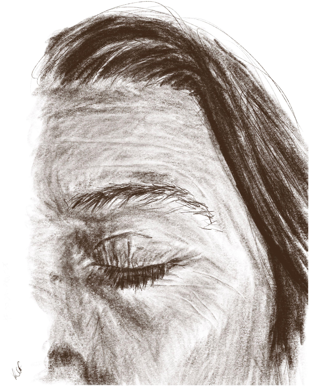 kim up close - digital pencil drawing