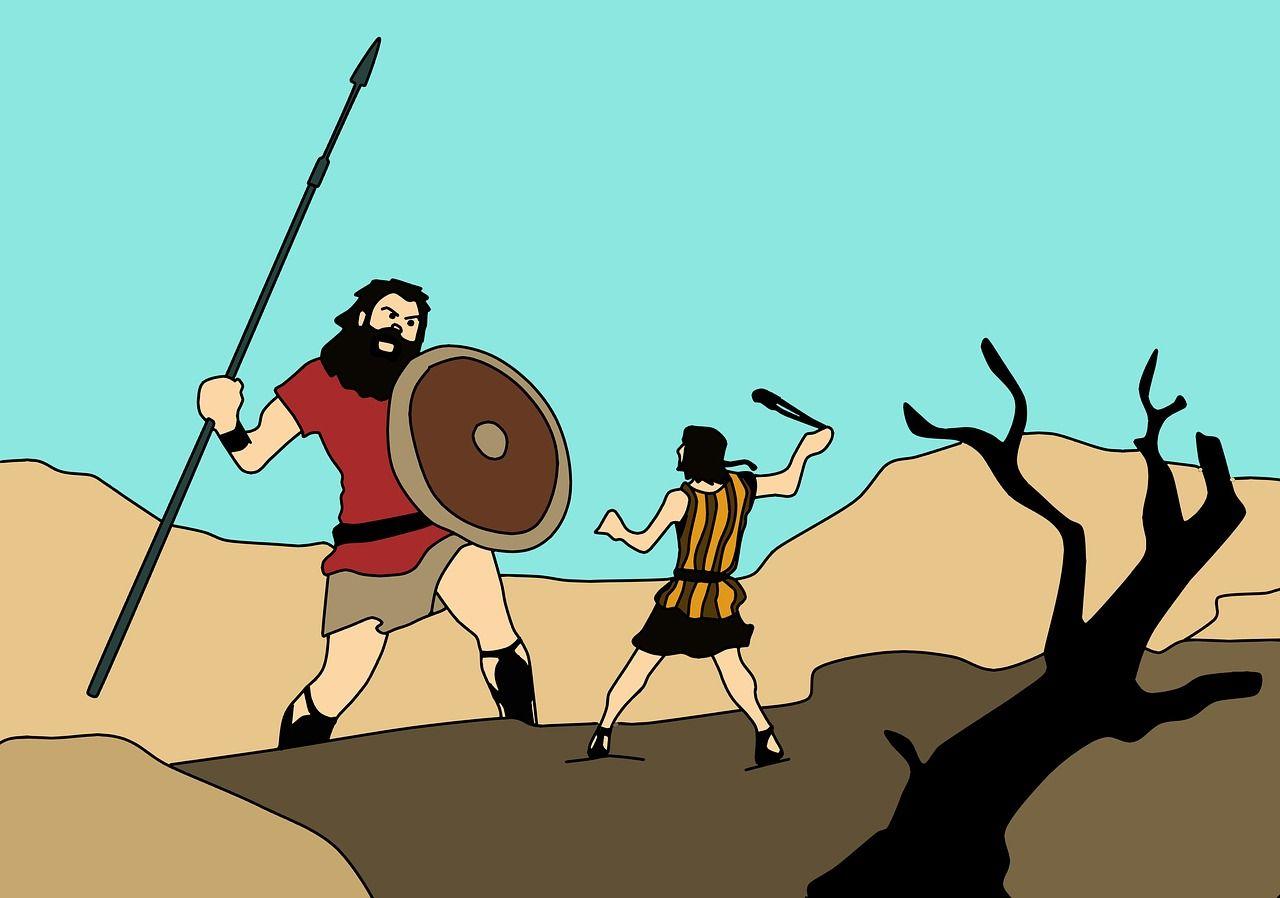David et Goliath.
