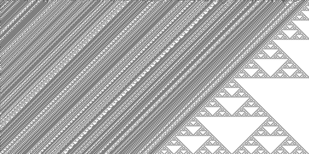 ca sierpinski triangles