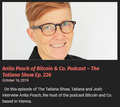 Anita Posch on the Tatiana show