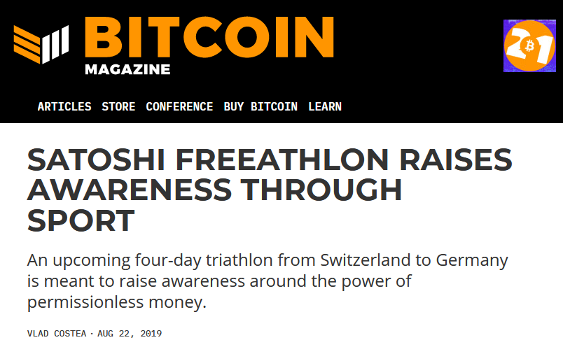 Satoshi Freeathlon on Bitcoin Magazine