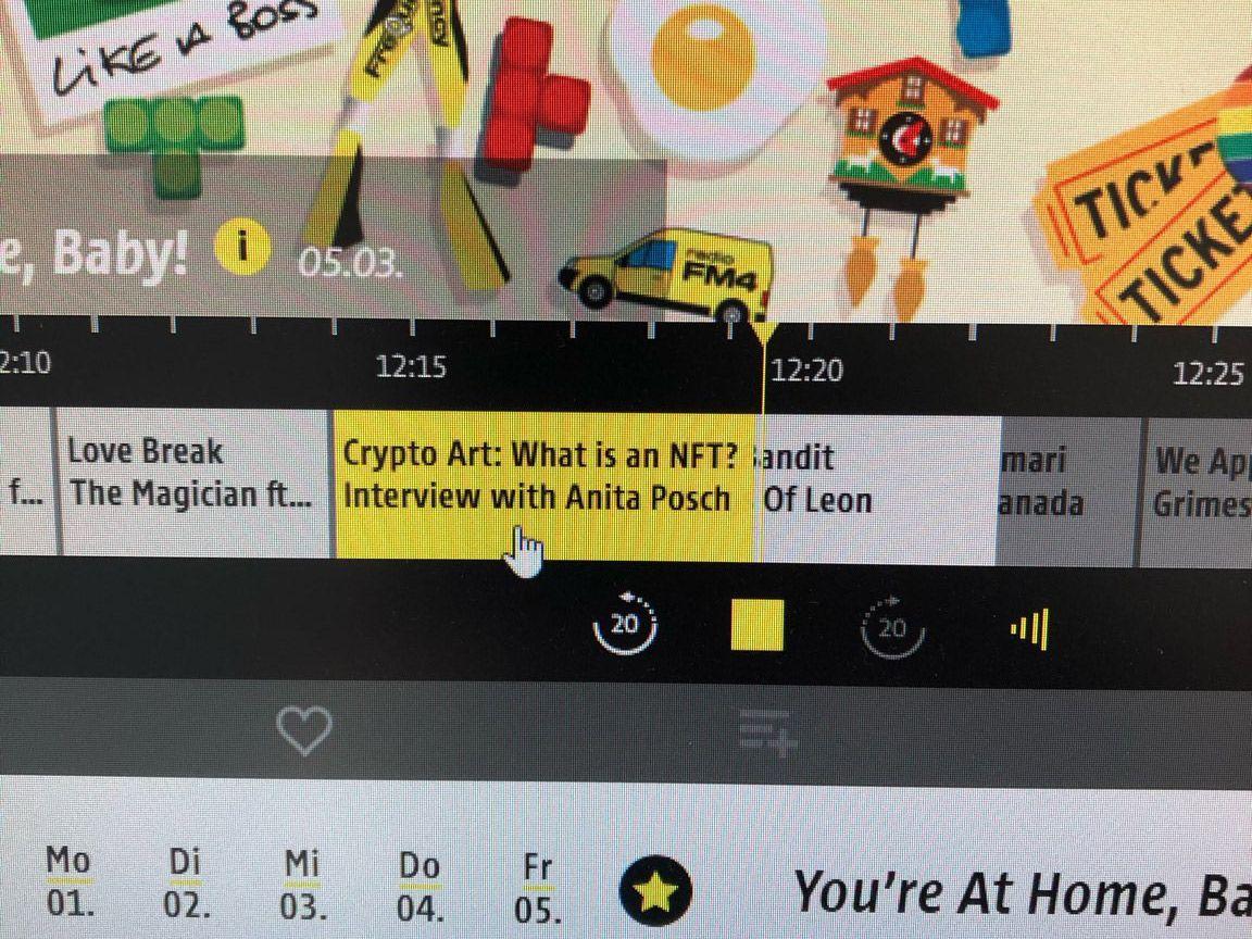 """""""Anita Posch on Austrian radio FM4 about NFT"""""""