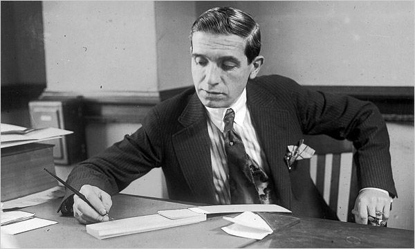 Charles Ponzi signing