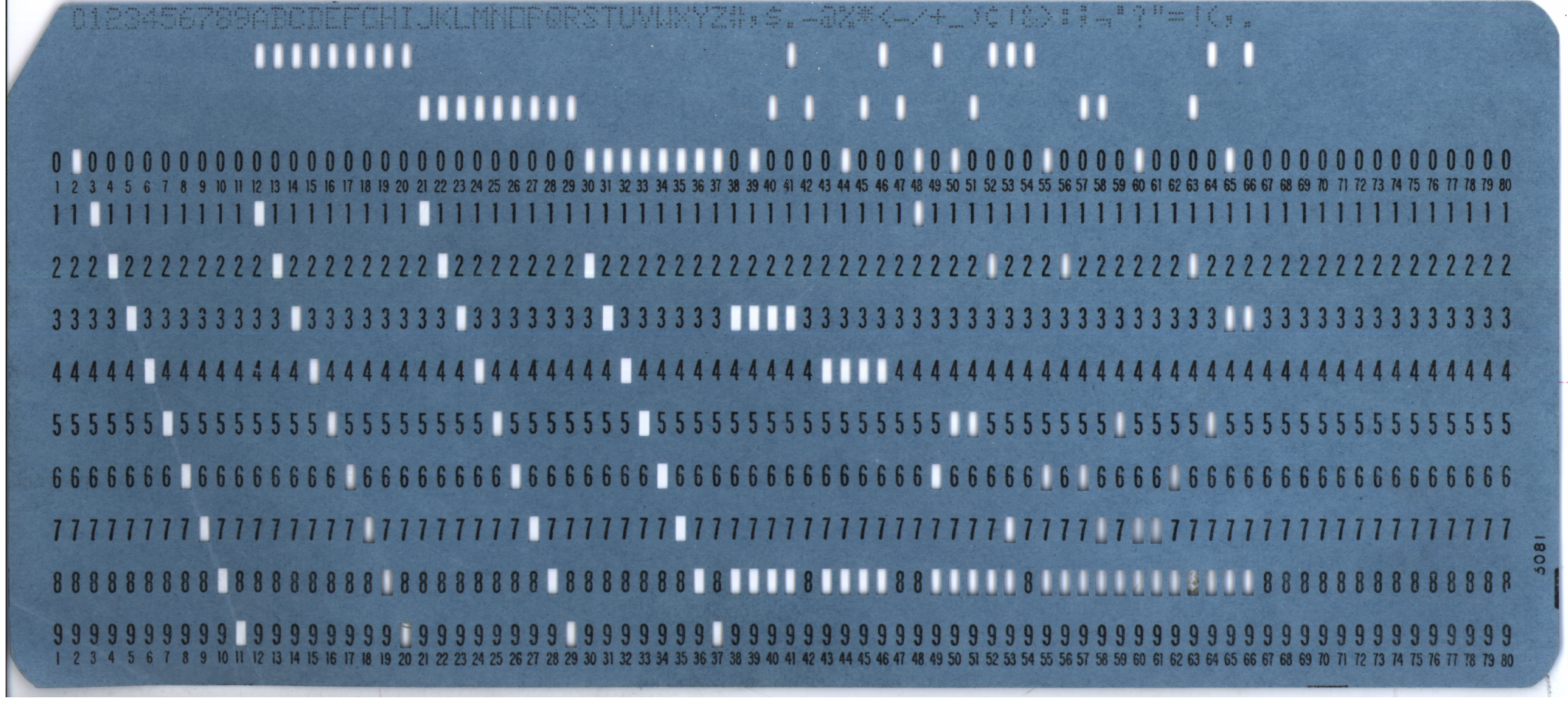 Blue Punch Card, Wikipedia