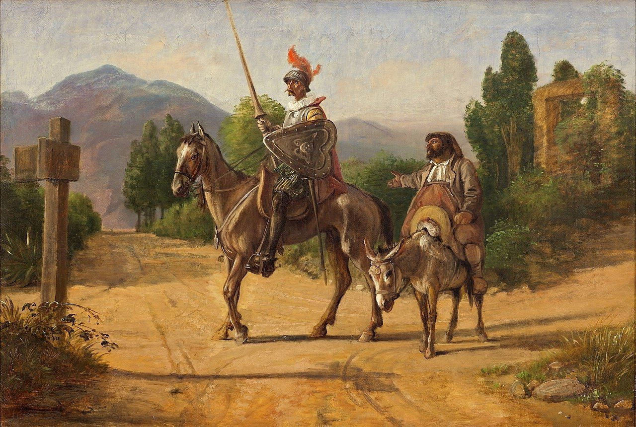 Wilhelm Marstrand: Don Quixote and Sancho Panza at a crossroad