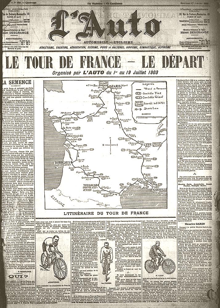 Erste Tour de France, L'Auto, 01. Juli 1903