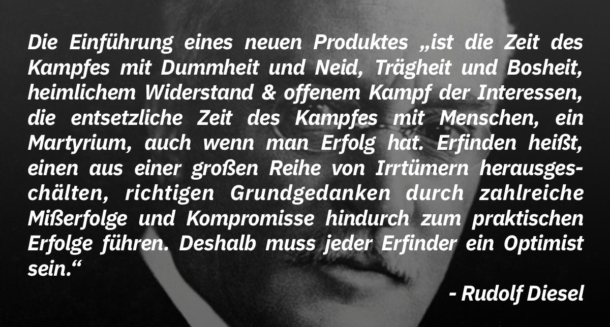 Rudolf Diesel, kurz vor seinem Tod