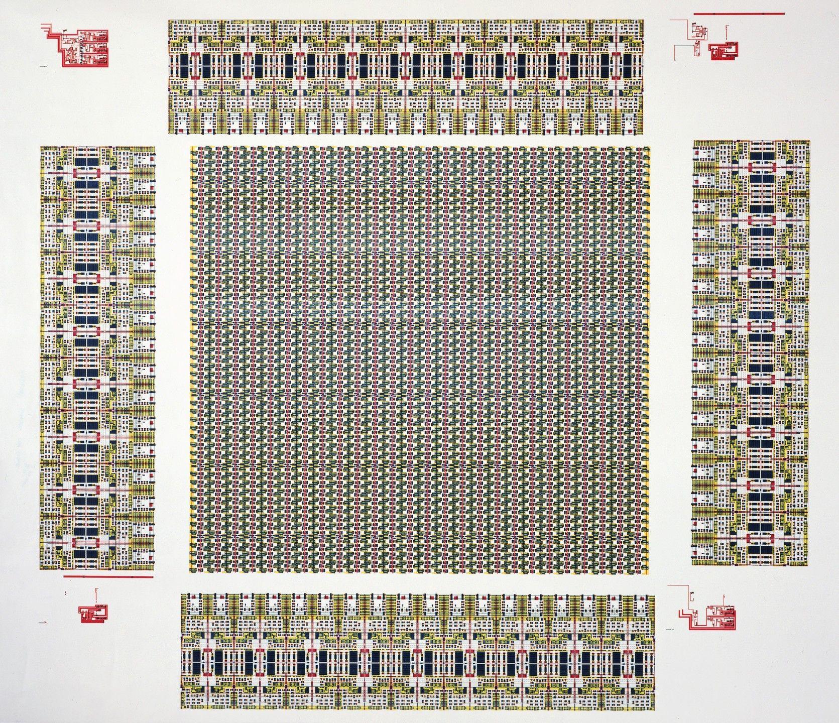 Sam Lucente, Diagram of a Logic Chip, 1986