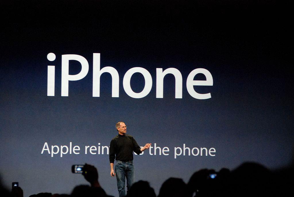 Steve Jobs bei der Präsentation des iPhones, 2007