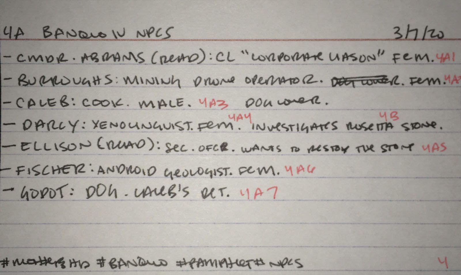 4a Banquo IV NPCs