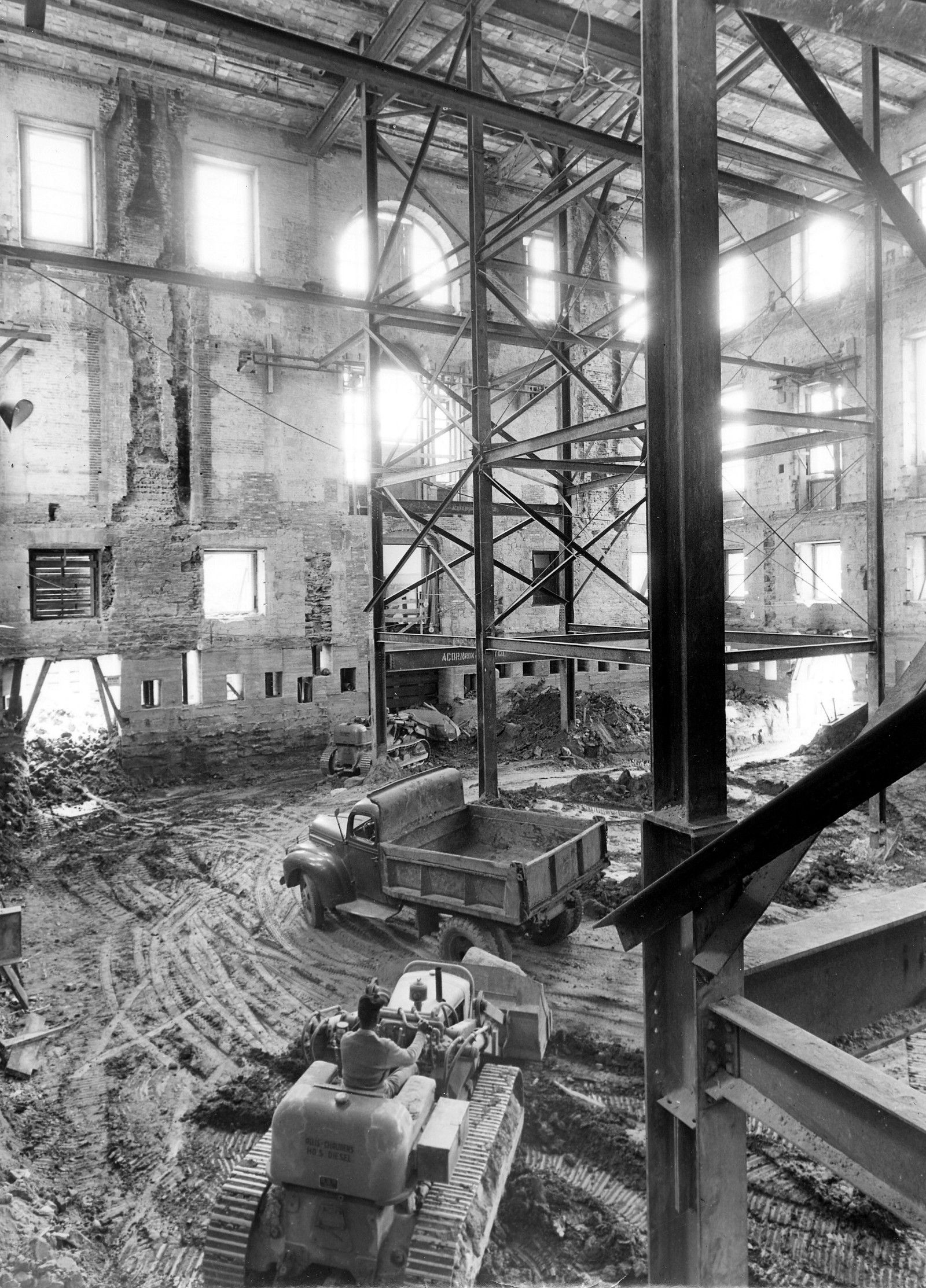 The White House, gutted