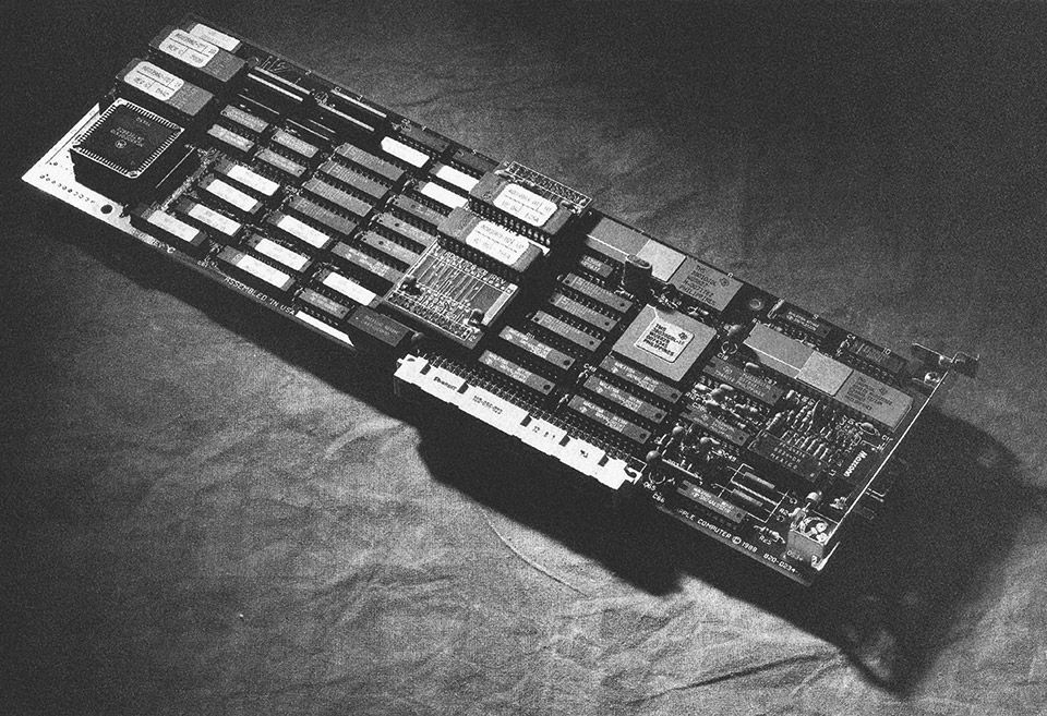 A Macintosh II interface card that provided a coaxial connection to an SNA network in support of 3270-based applications on IBM mainframes. The AppleCoax/Twinax card plugged into one of the NuBus slots in the Macintosh II family of computers and connected to an IBM host via a 3X74 cluster controller using standard coaxial cable. The card supported MacDFf application software.