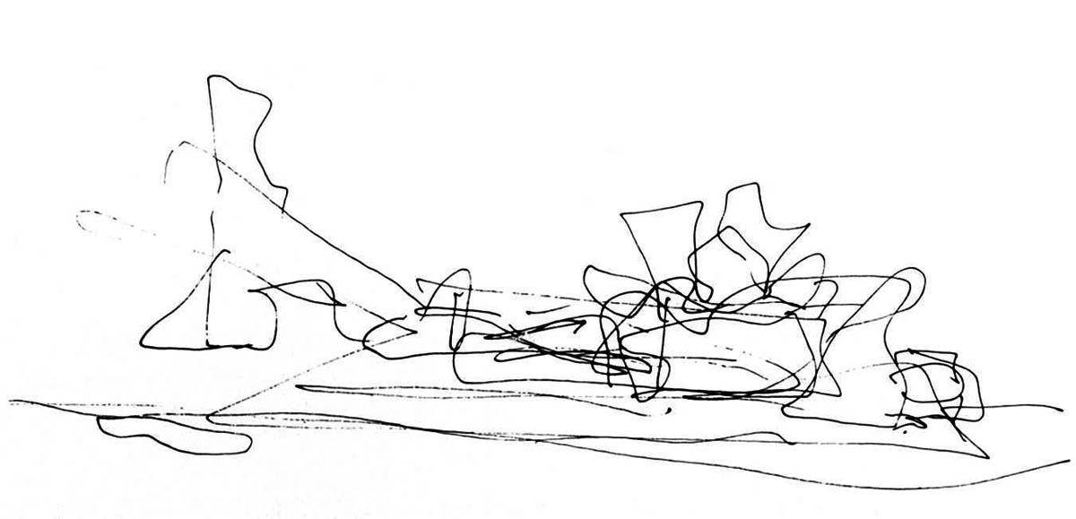 Boceto de Frank Gehry para el Guggenheim Bilbao