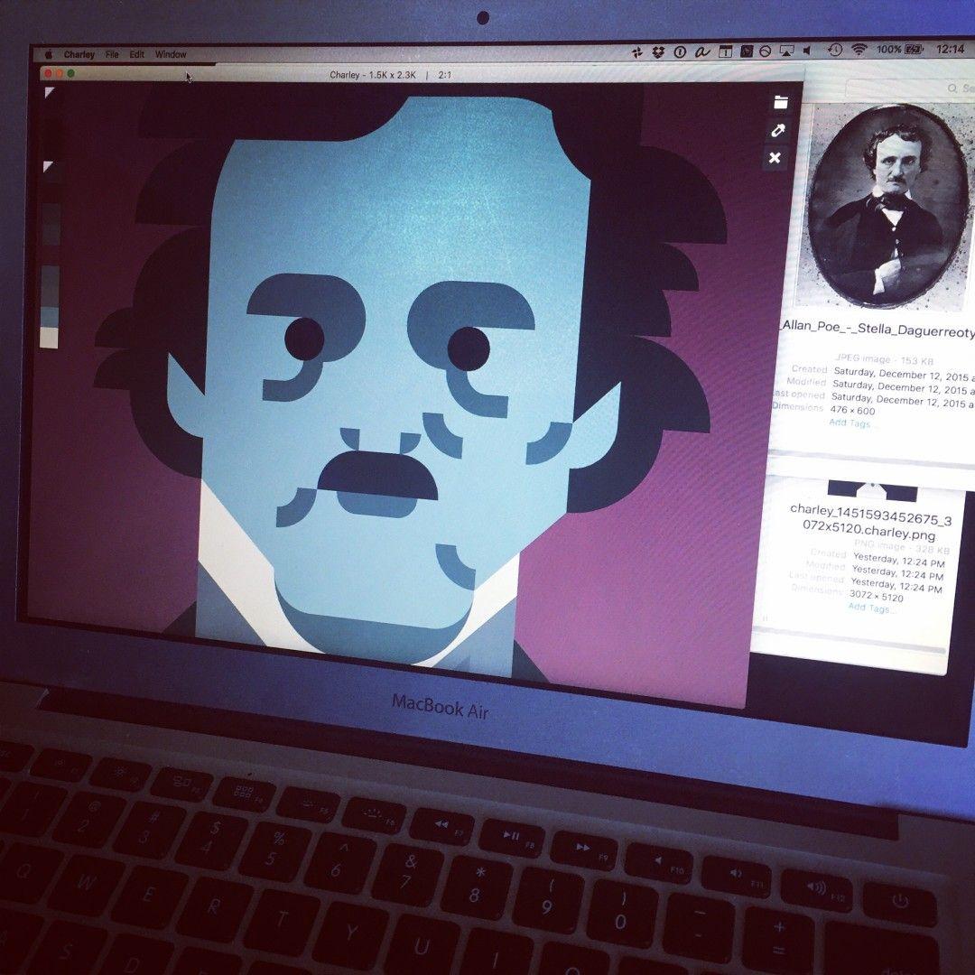Edgar Allan Poe WIP portrait