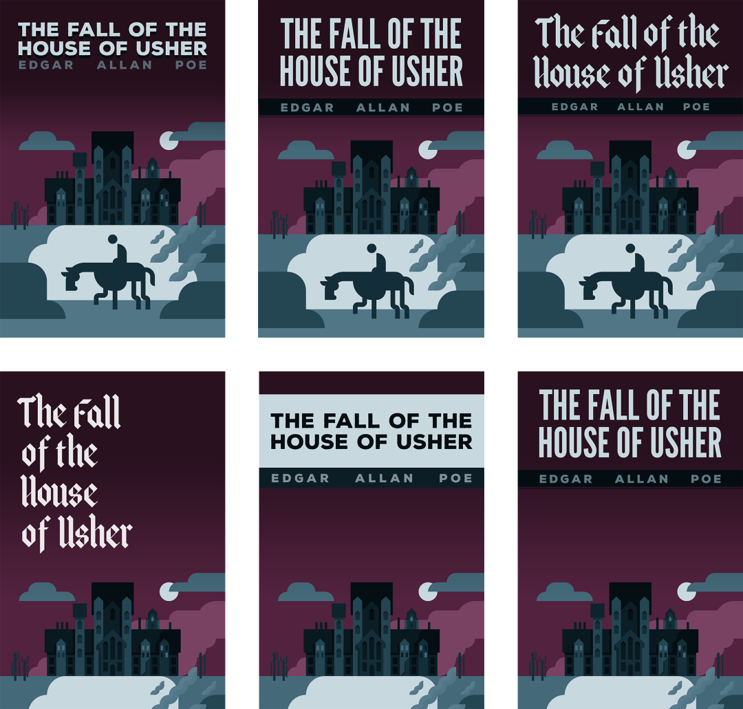The Fall of the House of Usher, ebook covers