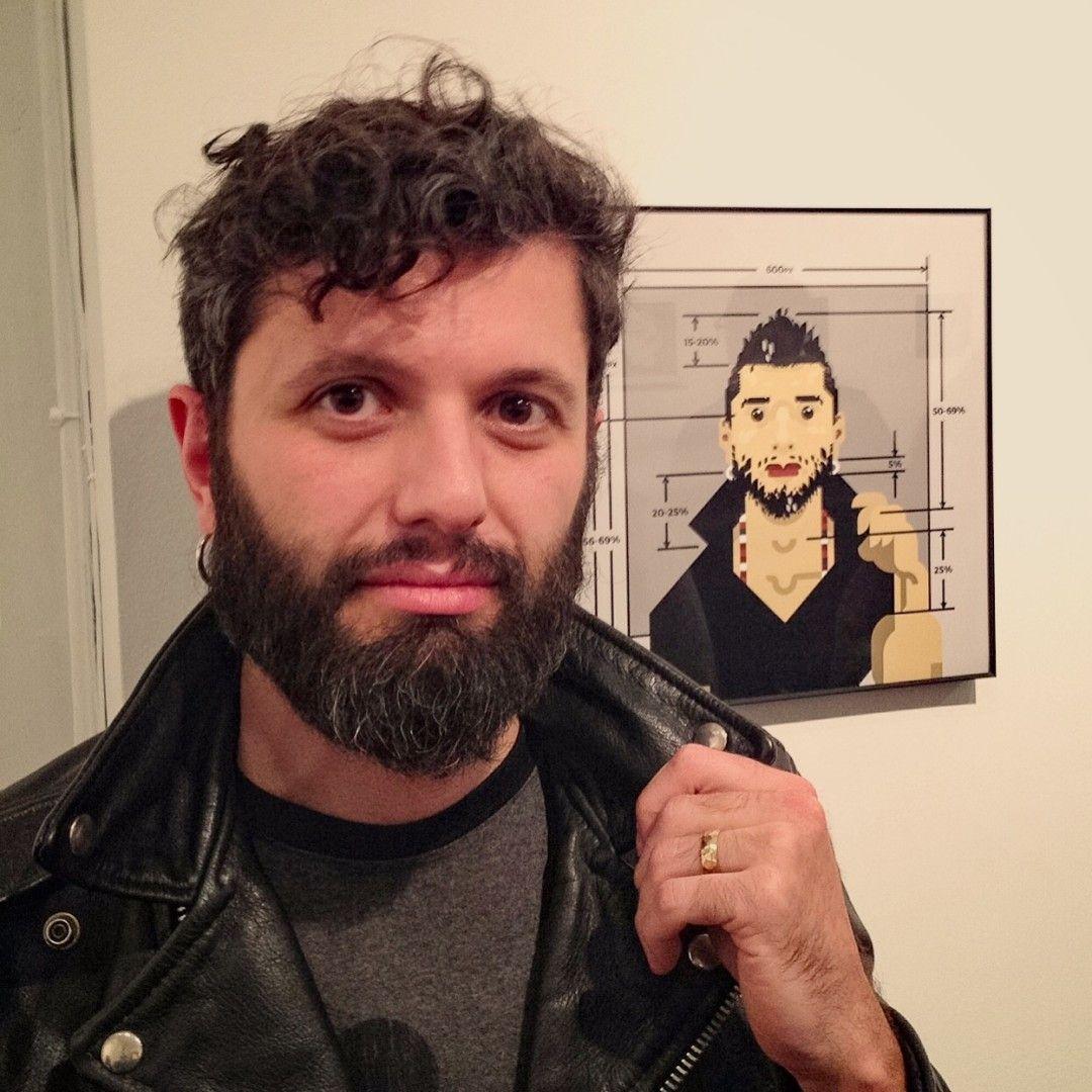 Portrait With Self-Portrait at Art Show