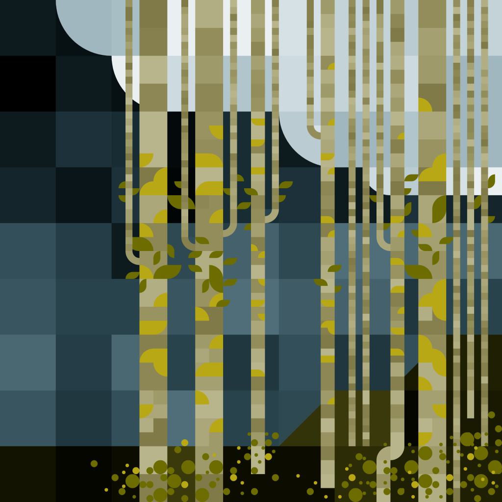 Quaking Aspen with Sunburst Lichen