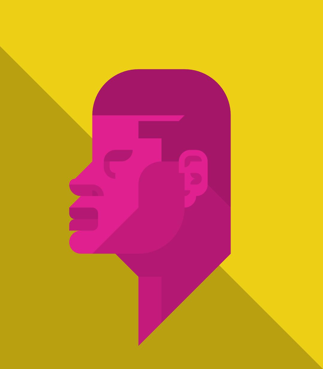 Profile of man #1