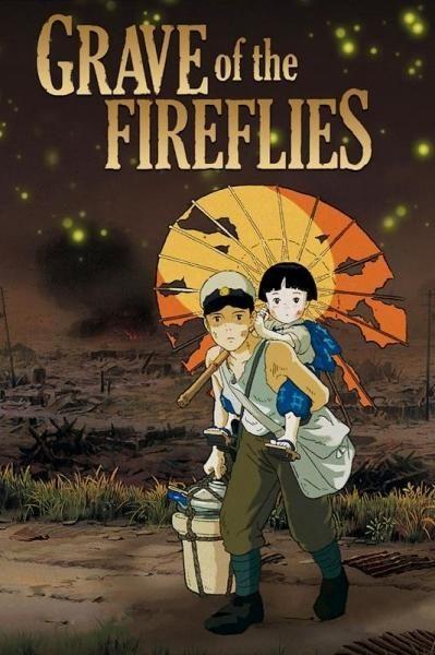 Poster for the Studio Ghibli film 'Grave Of Fireflys'.