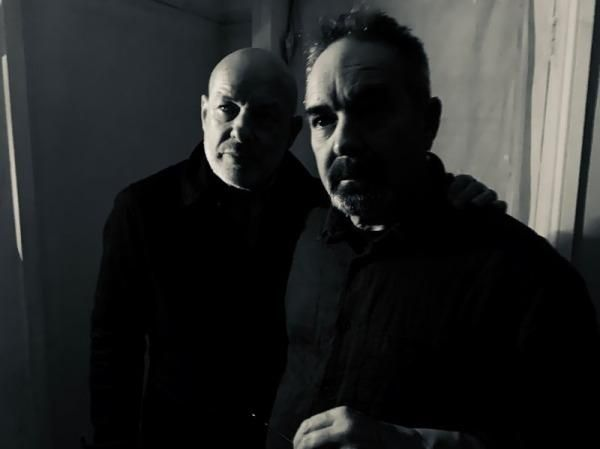 Photograph of musicians and ambient composers Roger & Brian Eno.
