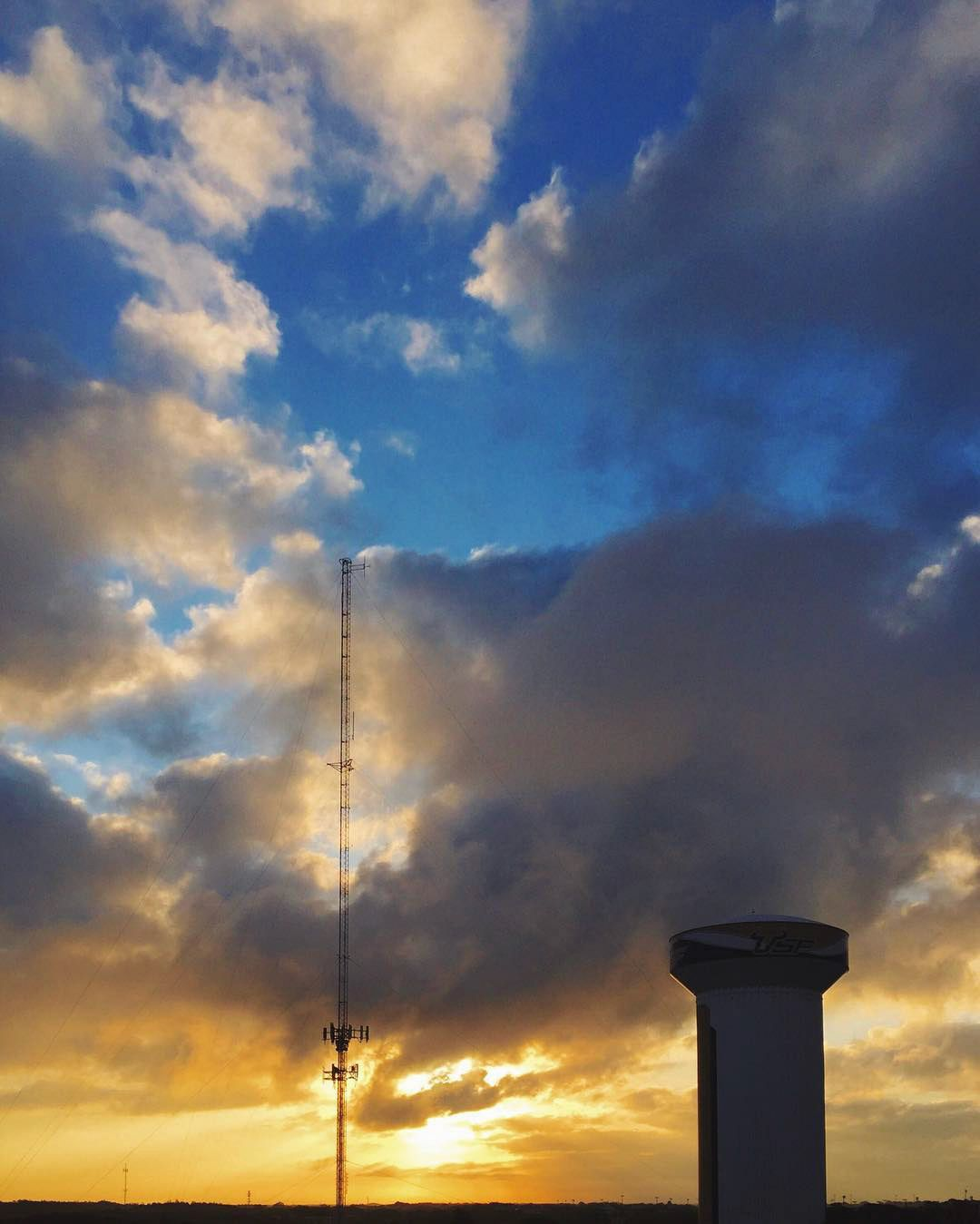 Water Tower Sunrise