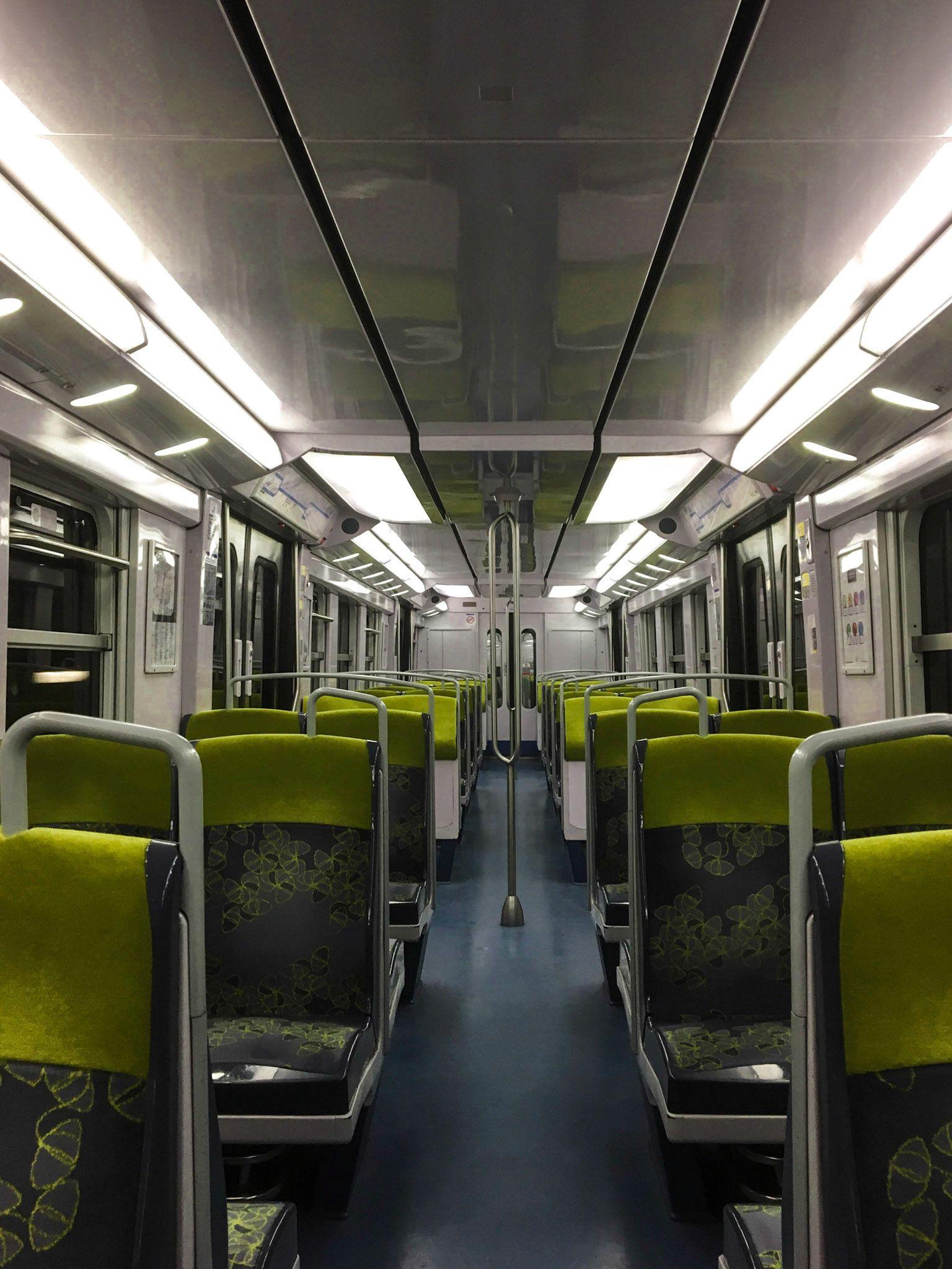 Paris metro car interior