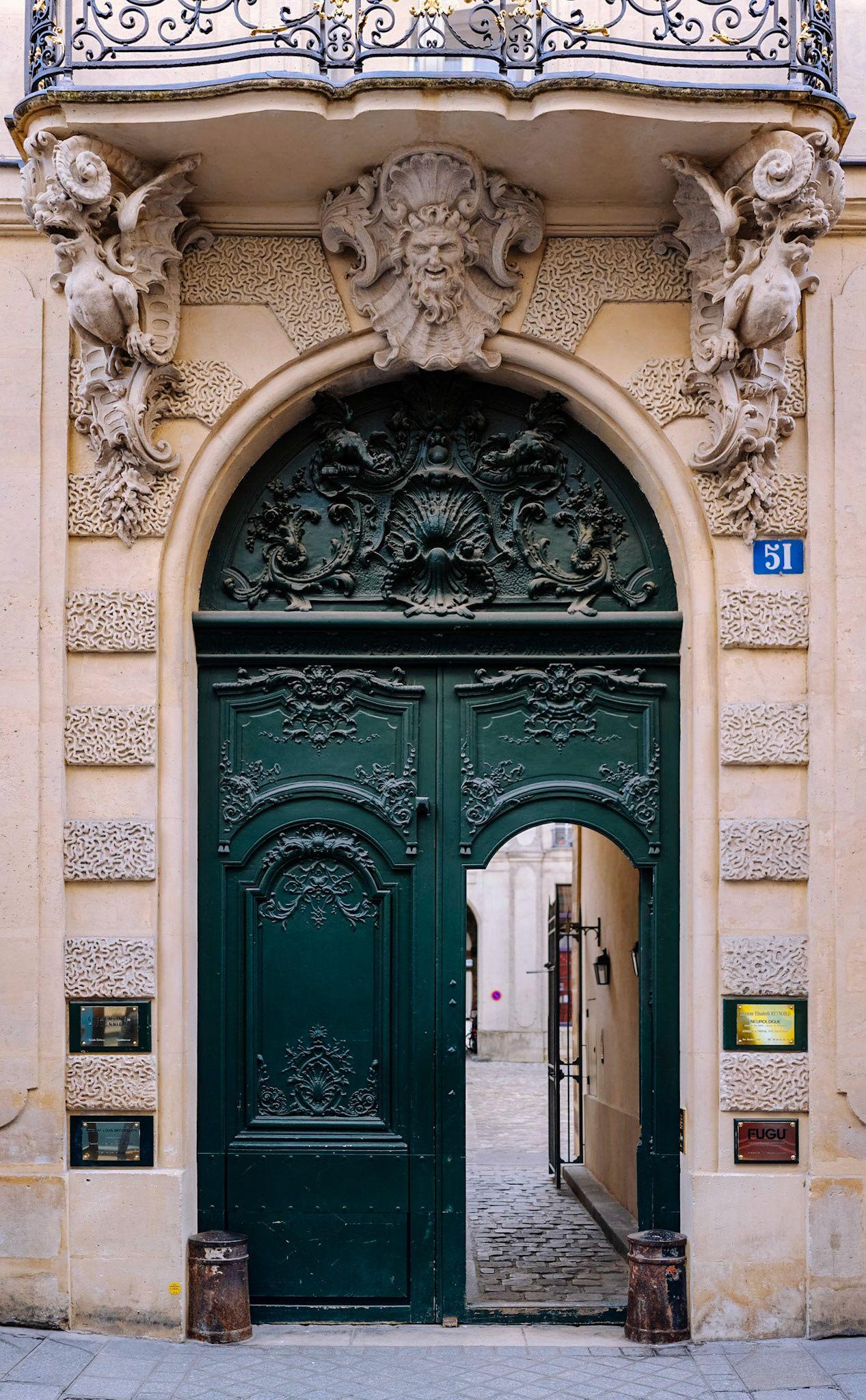 Decorative courtyard entrance in Paris