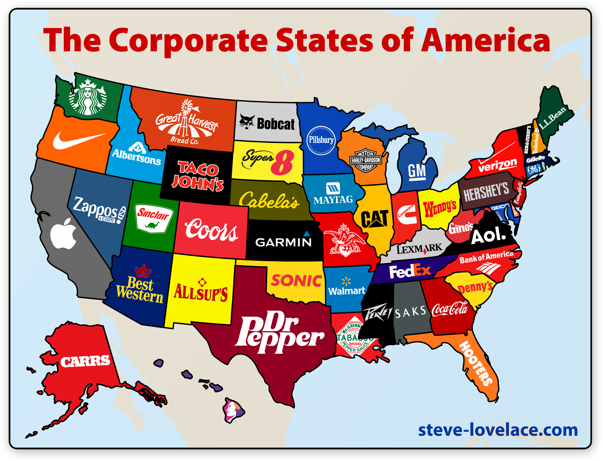 The most popular brand in each state
