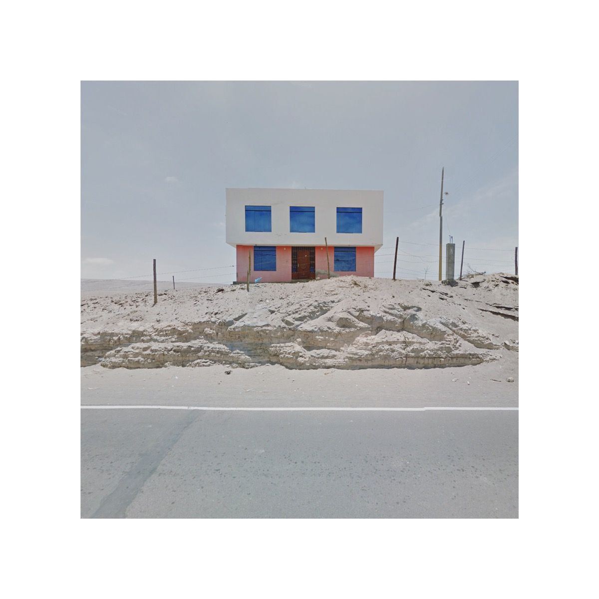 Pink and blue house, Peru. Google Copyright/Created by Jacqui Kenny