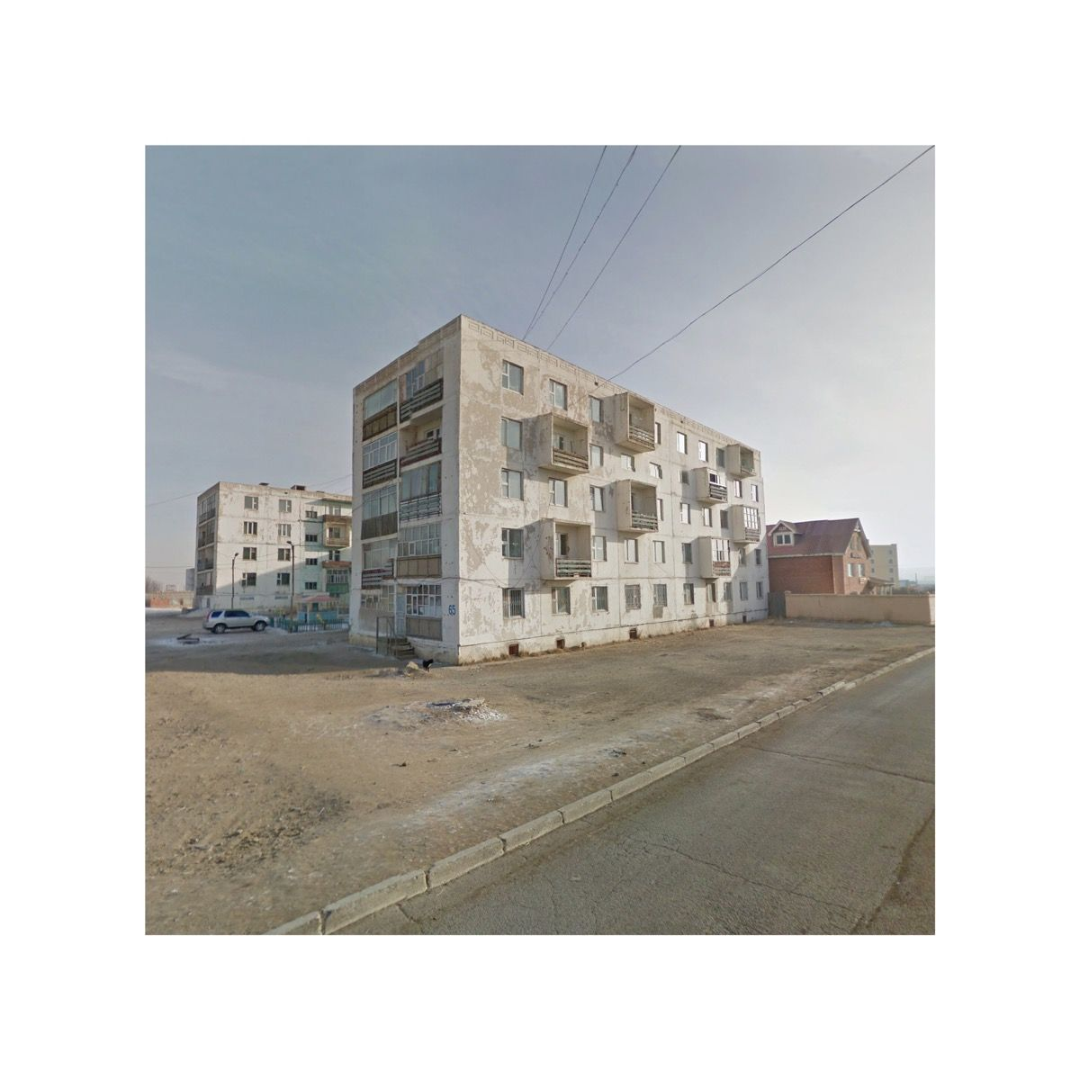 Apartment Block, Mongolia. Google Copyright/Created by Jacqui Kenny