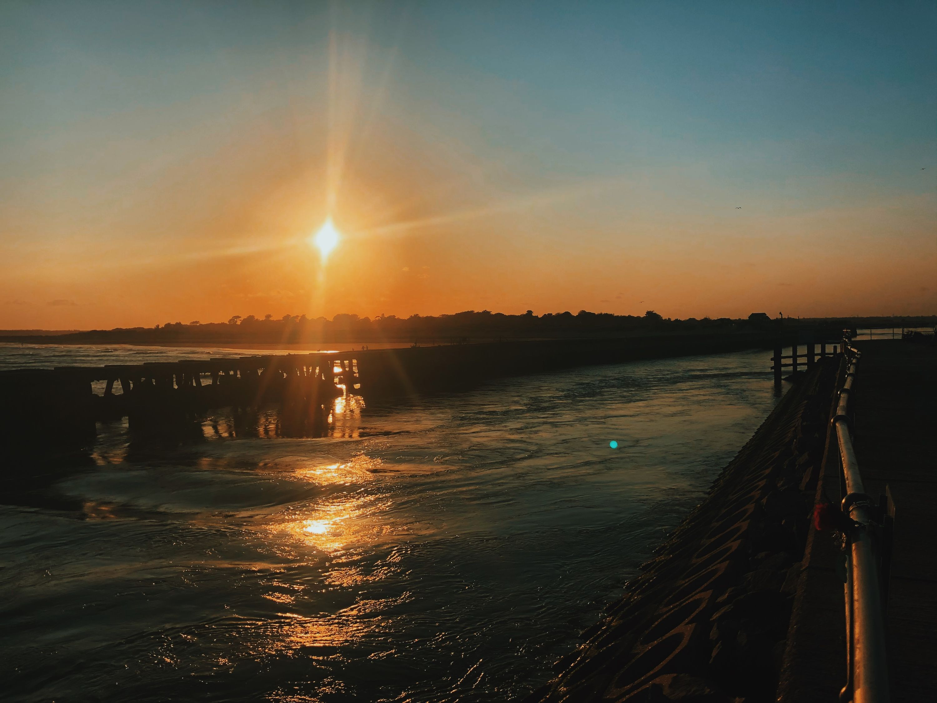 sunset at southwold harbour 2