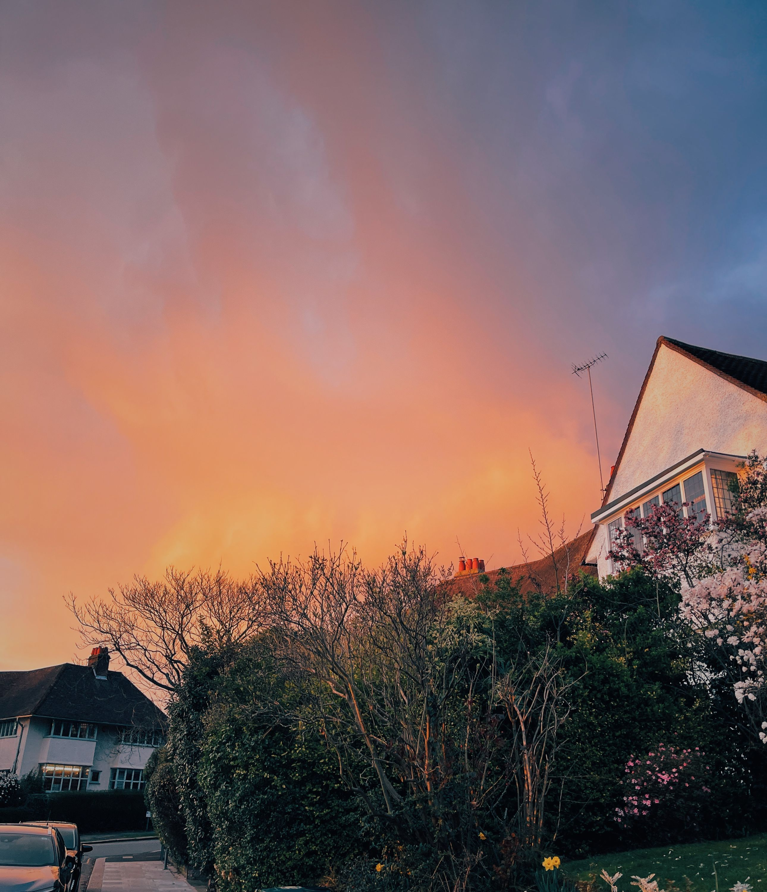 red sky at night - meadway gate