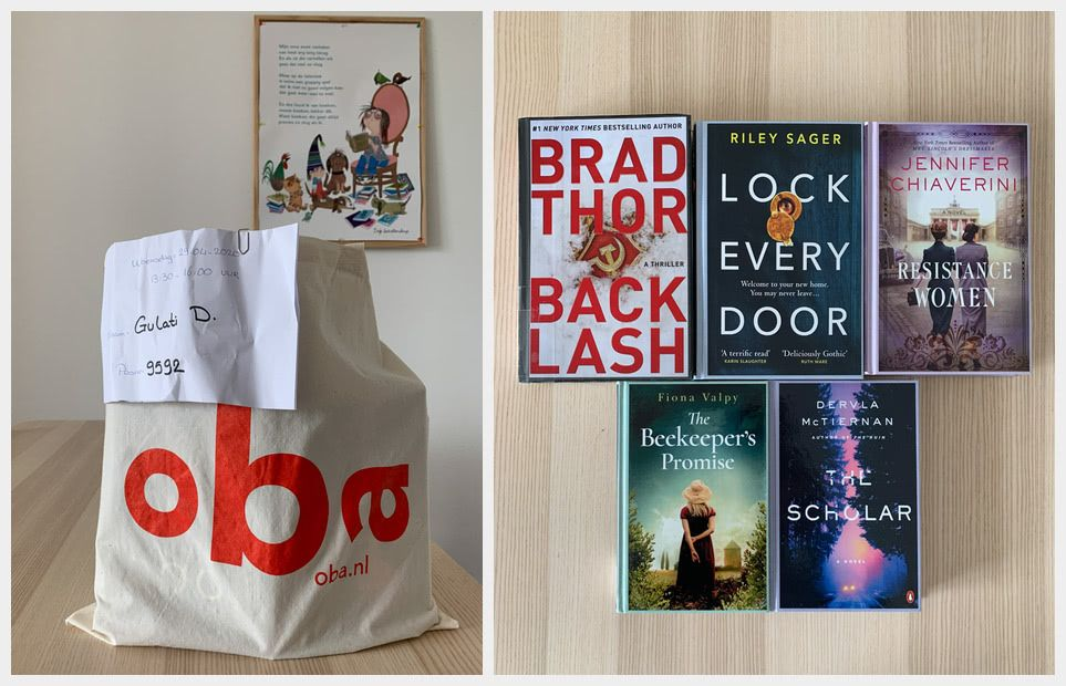 Surprise book bag