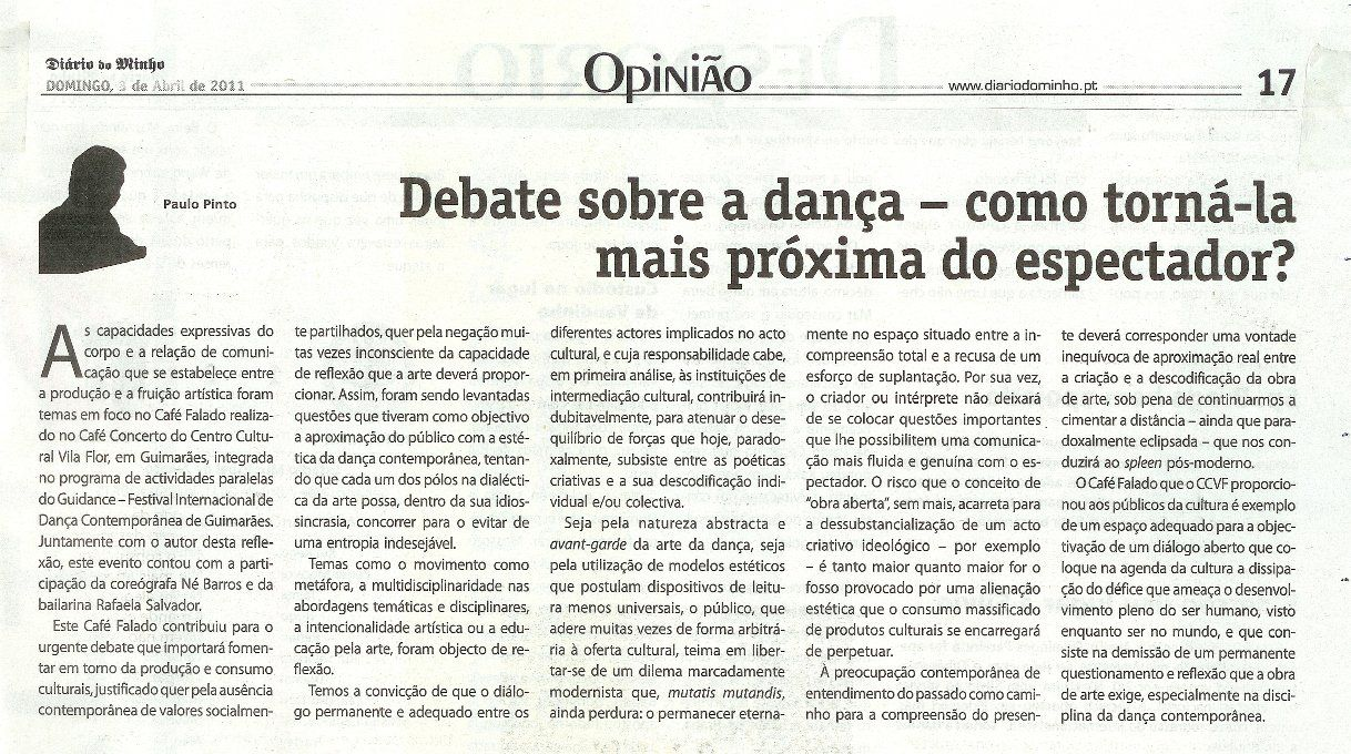 dança em debate
