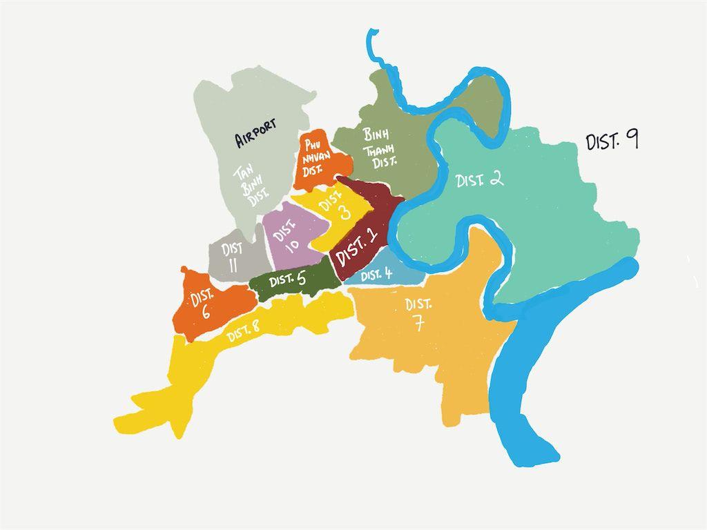 Map of Saigon