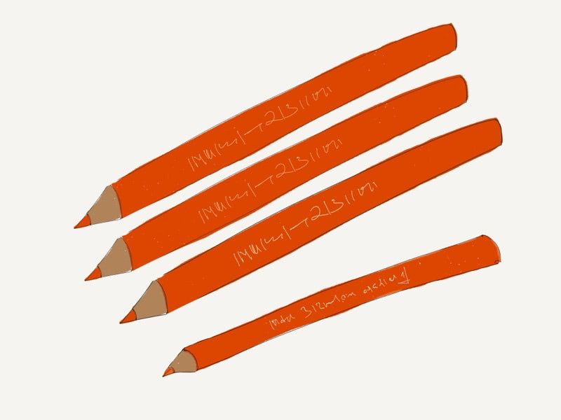 The red pencils